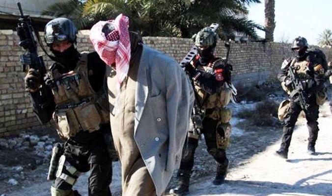 تصویر بازداشت ۱۰ تروریست داعشی در شمال عراق