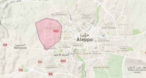 تصویر حمله خمپارهای سنی های تندرو به محله شیعهنشین جمعیة الزهراء در حومه حلب