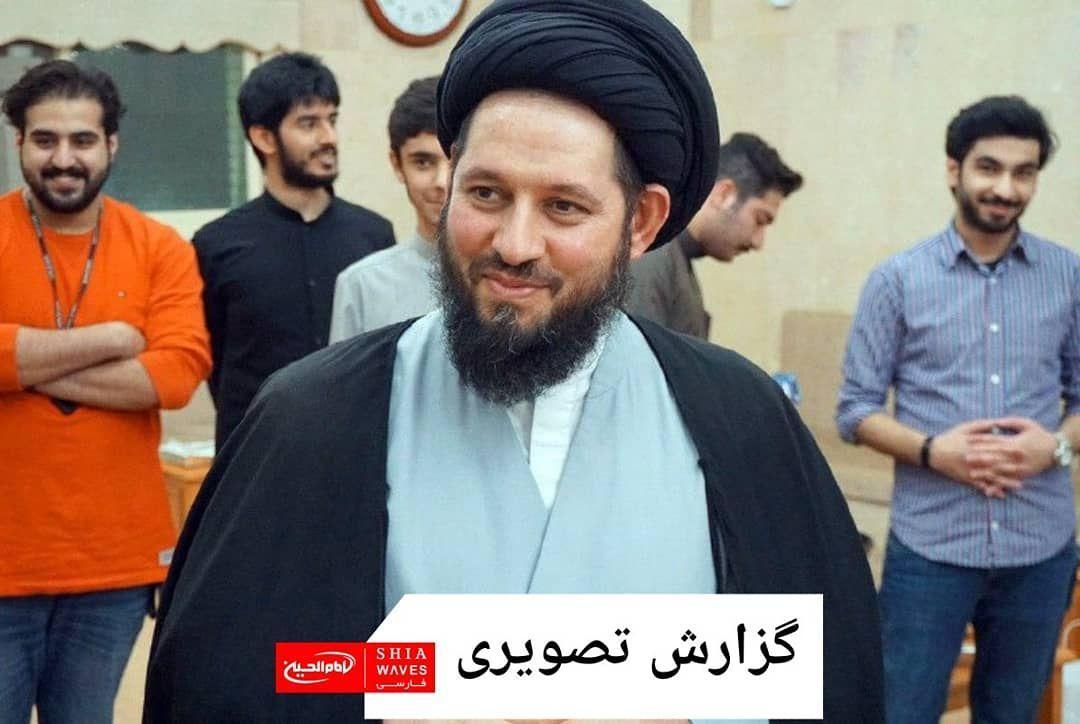 تصویر دیدار اعضای کمپین جهانی «امام الحیاة» با آیت الله سید احمد شیرازی در کشور کویت
