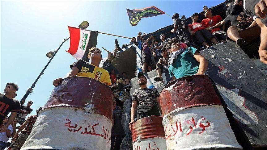 تصویر آزادی بازداشت شدگان تظاهرات در عراق