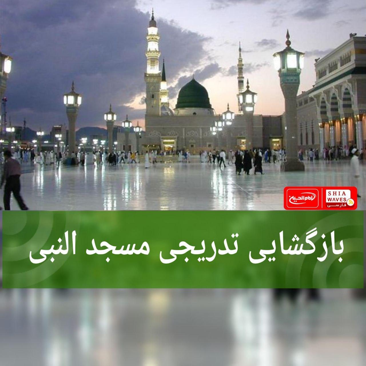 تصویر بازگشایی تدریجی مسجد النبی