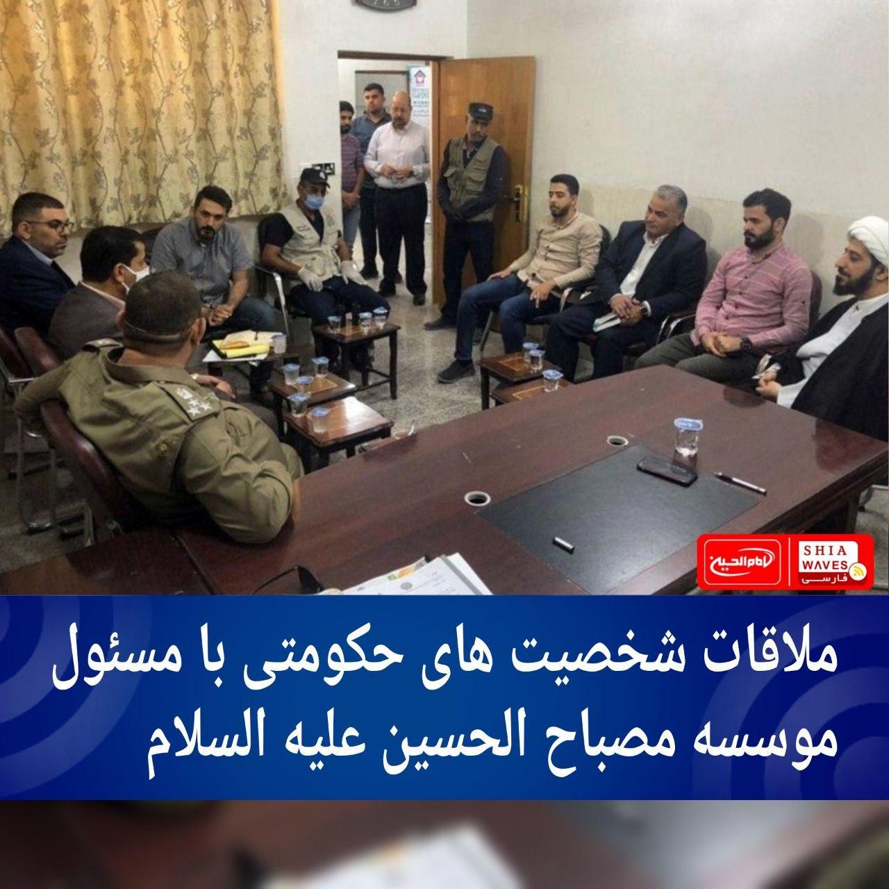 تصویر ملاقات شخصیت های حکومتی با مسئول موسسه مصباح الحسین علیه السلام
