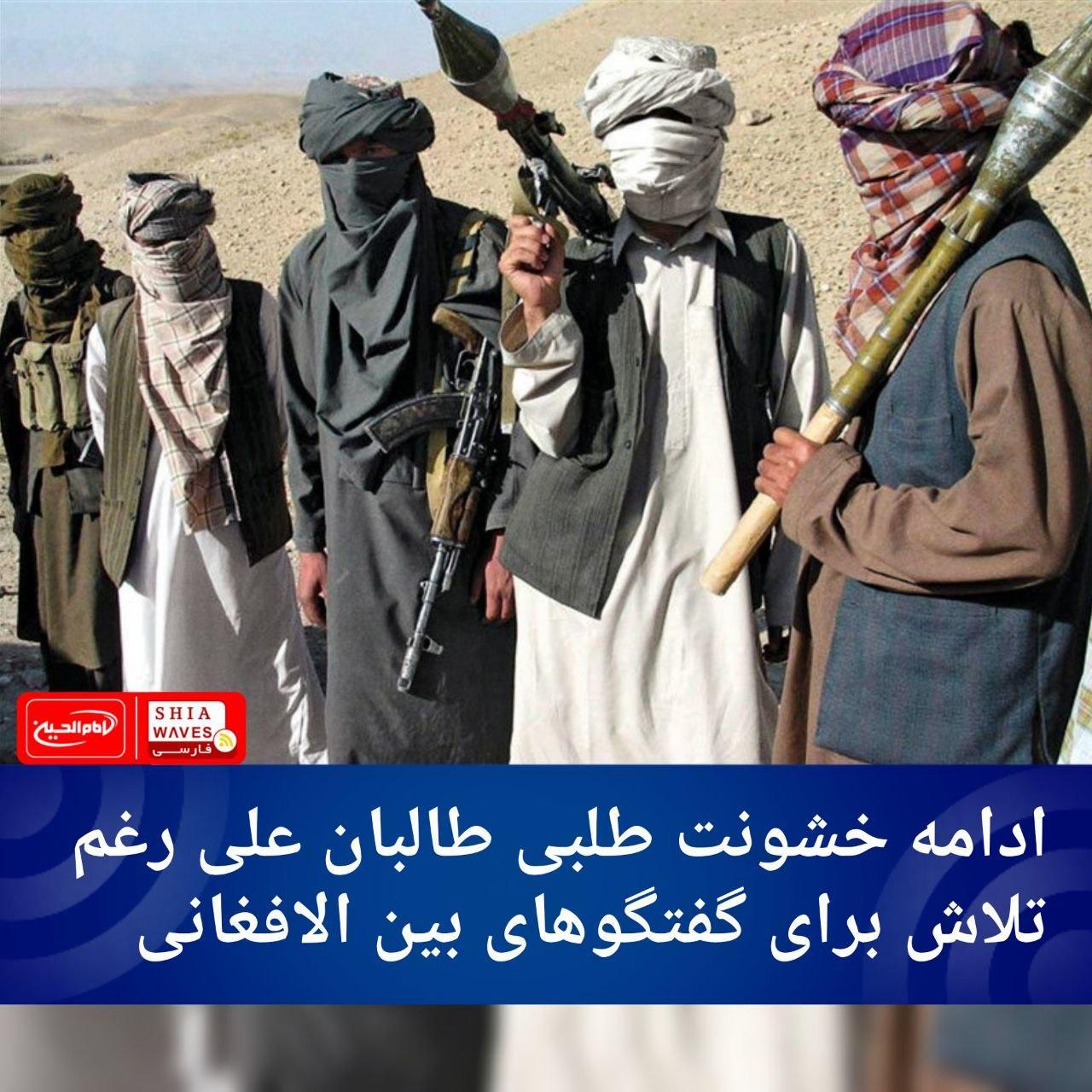 تصویر ادامه خشونت طلبی طالبان علی رغم تلاش برای گفتگوهای بین الافغانی