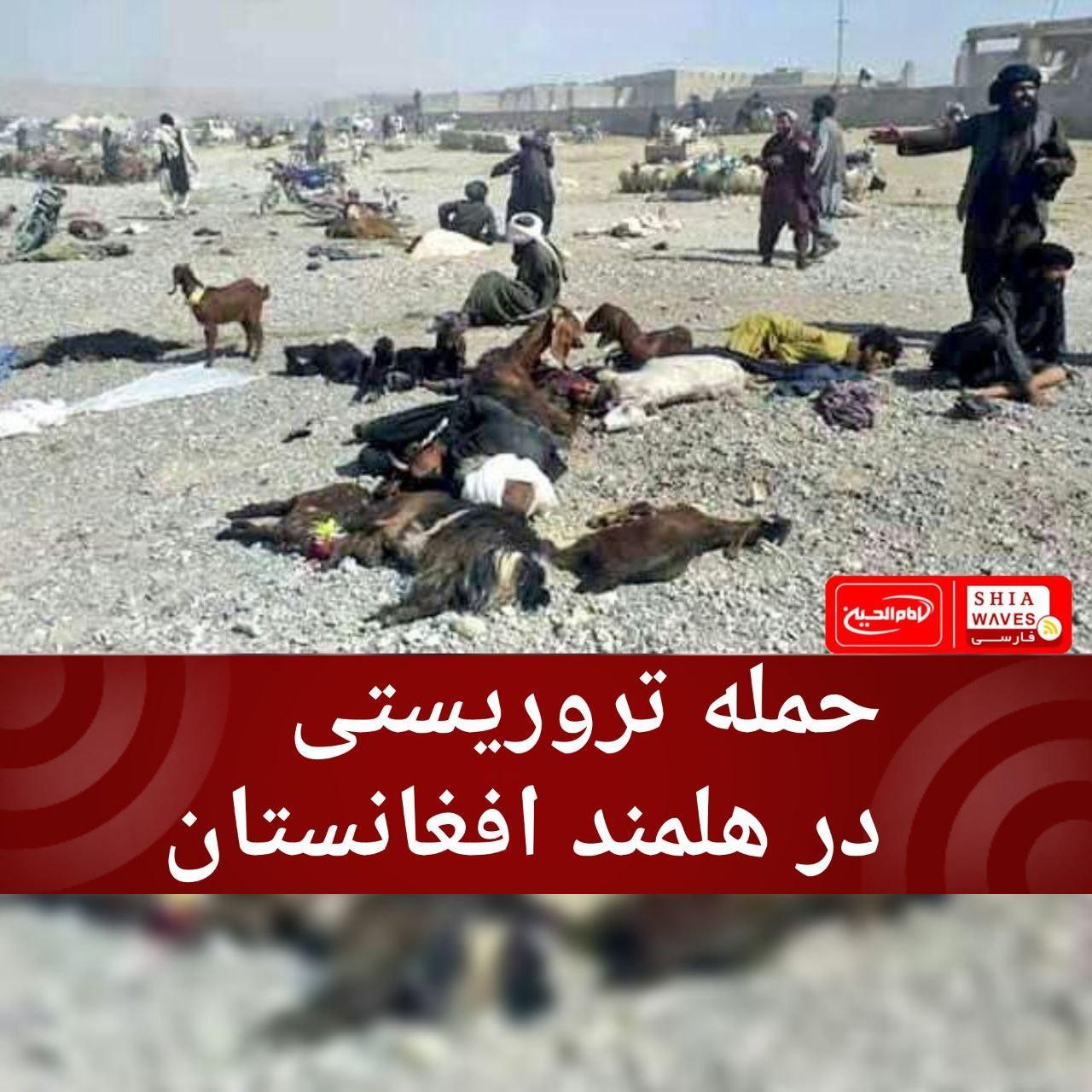 تصویر حمله تروریستی در هلمند افغانستان