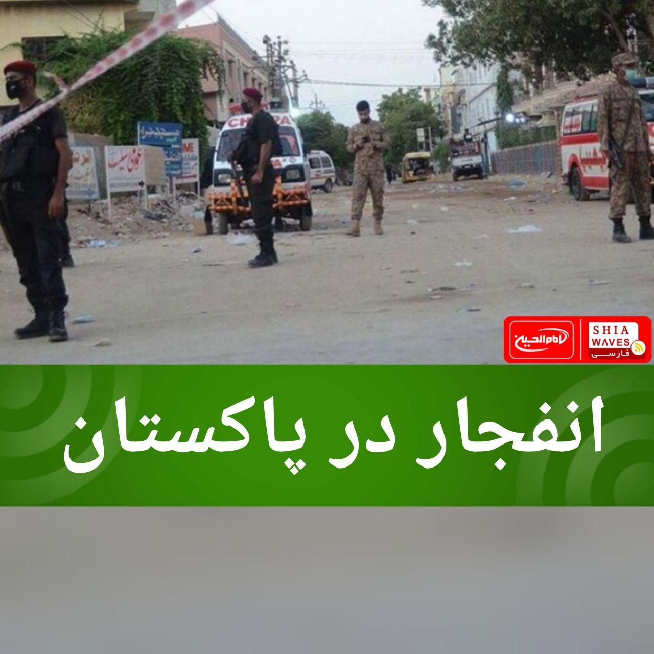 تصویر انفجار در پاکستان