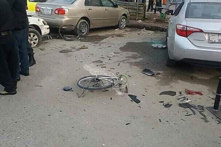 تصویر وقوع ۲ انفجار در شهر مزار شریف