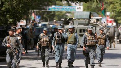 تصویر قربانی شدن ۸ نیروی پلیس افغانستان در حمله طالبان