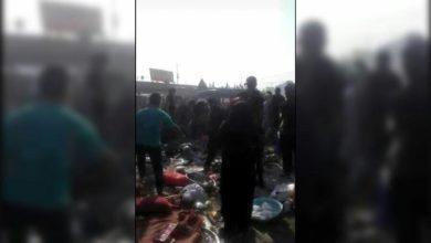 تصویر وقوع حادثه در مسیر نجف به کربلا