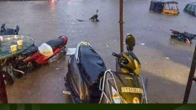 تصویر مساجد حیدرآباد هند درهایشان را به روی آوارگان سیل گشودند