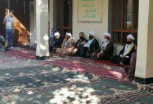 تصویر دیدار اعضای دفتر مرجعیت شیعه در نجف با چهره های سیاسی و غیر سیاسی در اقلیم کردستان