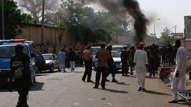 تصویر حمله تروریستی مسلحانه به مسجد مسلمانان نیجریه