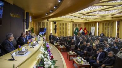 تصویر برگزاری همایش موکب های حسینی در آستان مقدس عباسی