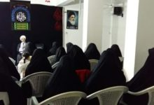 تصویر برگزاری جلسه هفتگی حوزه علمیه بانوان کربلای معلی