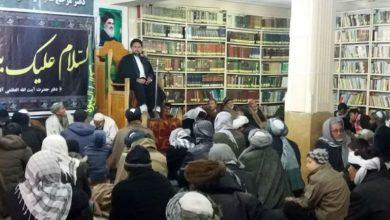 تصویر برگزاری مراسم هفتگی دفتر حضرت آیت الله العظمی شیرازی در افغانستان