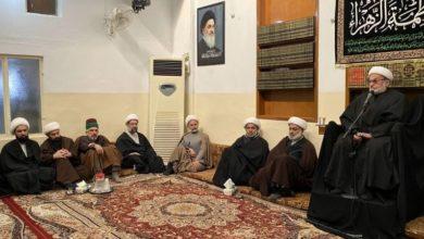 تصویر برگزاری مراسم شهادت حضرت زهرا سلام الله علیها در دفتر مرجعیت در کربلا