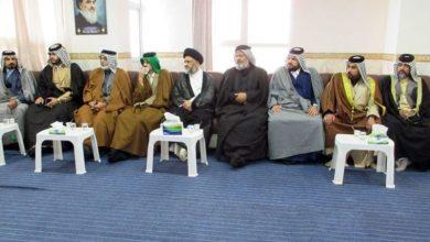 تصویر دیدار اعضای انجمن «أهل الغیرة لصلاح ذات البین» با مدیر دفتر مرجعیت نجف