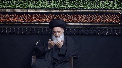 تصویر برگزاری سومین روز عزاداری فاطمی در بیت حضرت آیت الله العظمی شیرازی