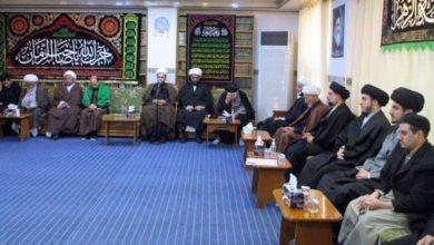 تصویر برگزاری مراسم شهادت حضرت زهرا سلام الله علیها در دفتر مرجعیت در نجف