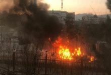 تصویر اصابت 10 راکت به مناطق مختلف شهر کابل