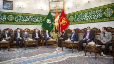 تصویر آستان مقدس عباسی میزبان هیاتی از دانشکده امام کاظم علیه السلام