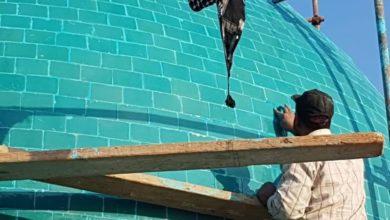 تصویر آغاز بازسازی مزار امامزاده ابراهیم الغمر در نجف
