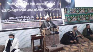 تصویر برگزاری مراسم عزاداری فاطمی در مزار شریف
