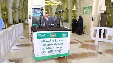 تصویر تب سنجی 4 میلیون زائر با دوربین های حرارتی در ورودی مسجدالحرام