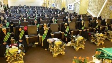 تصویر برگزاری جشن فارغ التحصیلی هزار دانشجوی دختر در حرم مطهر حسینی