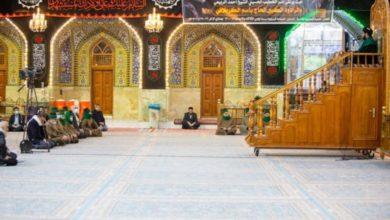 تصویر برگزاری مراسم عزادارای ام البنین در حرم حضرت عباس علیهما السلام