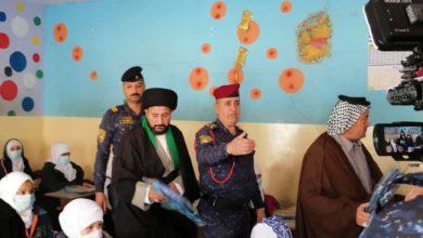 """تصویر بازدید مدیر مدرسه و حسینیه امام حسن الزکی علیه السلام از مدرسه """"نسائم العلم"""" بغداد"""