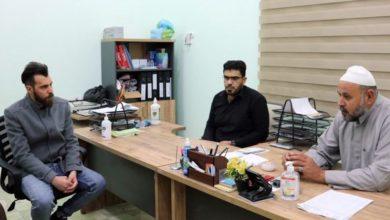 تصویر بازدید هیئت فرهنگی صادقیه از مجتمع خیریه پزشکی سبع سنابل بصره