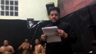 تصویر برگزاری مراسمی عزداری فاطمی در خرمشهر