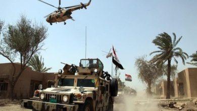 تصویر بمباران مواضع یک باند داعش در شمال شرق دیاله