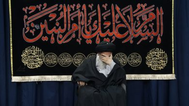 تصویر برگزاری مجلس سوگواری حضرت ام البنین سلام الله علیها در بیت آیت الله العظمی شیرازی
