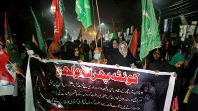 تصویر فراگیری اعتراض ها به کشتار شیعیان در پاکستان