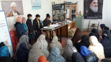 تصویر توزیع کمک های ماهیانه دارالایتام مجتمع حضرت زهرا در کابل