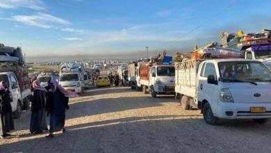 تصویر بازگشت بیش از ۳ هزار آواره عراقی به استان نینوا
