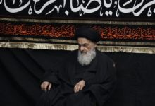 تصویر برگزاری مراسم شهادت امام هادی علیه السلام در بیت آیت الله العظمی شیرازی