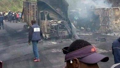 تصویر درگذشت یک مبلغ شیعه کامرونی بر اثر سانحه تصادف