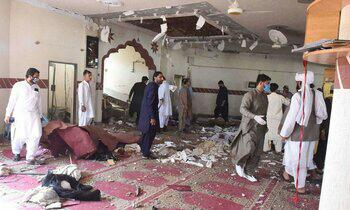 تصویر انفجار در یکی از مساجد بلخ افغانستان هنگام آموزش ساخت مین!