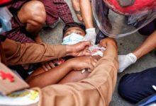 تصویر تیراندازی نیروهای نظامی میانمار دو کشته برجای گذاشت