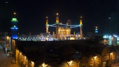 تصویر اتخاذ تدابیر امنیتی در کاظمین به مناسبت سالروز شهادت امام کاظم علیه السلام