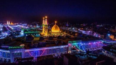 تصویر آمادگی آستان های مقدس عراق برای اعیاد شعبانیه