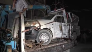 تصویر انفجار در شهر کراچی