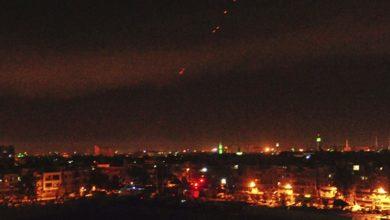 تصویر موشک های اسرائیلی منطقه «سیده زینب» را هدف گرفتند