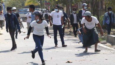 تصویر ادامه اعتراضات خونین در میانمار