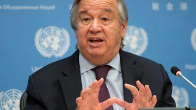 تصویر درخواست دوباره دبیرکل سازمان ملل متحد برای توقف جنگ یمن
