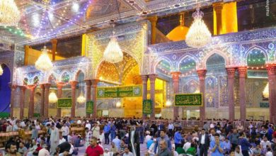 تصویر حال و هوای حرم امام حسین و حضرت عباس علیهما السلام در شب های ماه رمضان