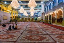 تصویر در آستانه ماه رمضان؛ حرم عباسی با هزار فرش جدید، مفروش شد