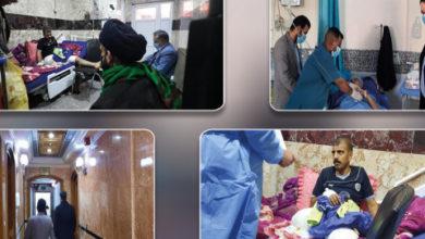 تصویر آستان قدس حسینی: بیش از ۴ میلیارد دینار برای مداوای مجروحان جنگ علیه داعش هزینه شده است